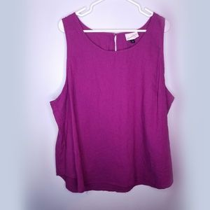 NWOT Universal thread plus size sleeveless top